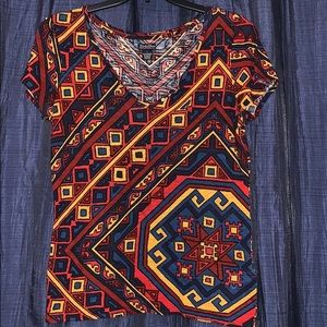 💸🎈3/$20!! Lucky brand Aztec printed top